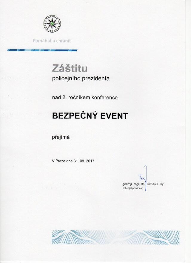 Záštita policejního prezidenta ČR